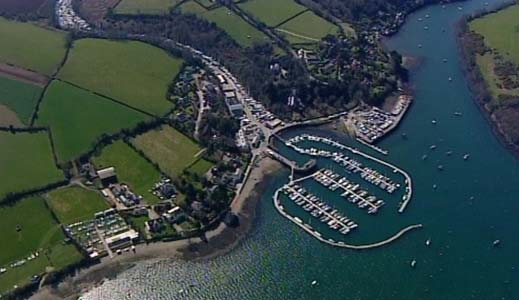 Aerial photo of Cornwall